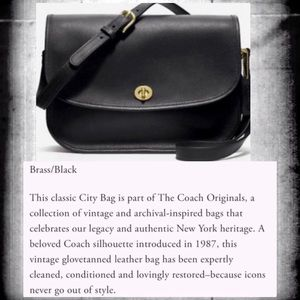 VINTAGE COACH CLASSIC CROSSBODY CITY BAG 9790